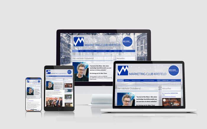 Webseite Marketingclub Krefeld