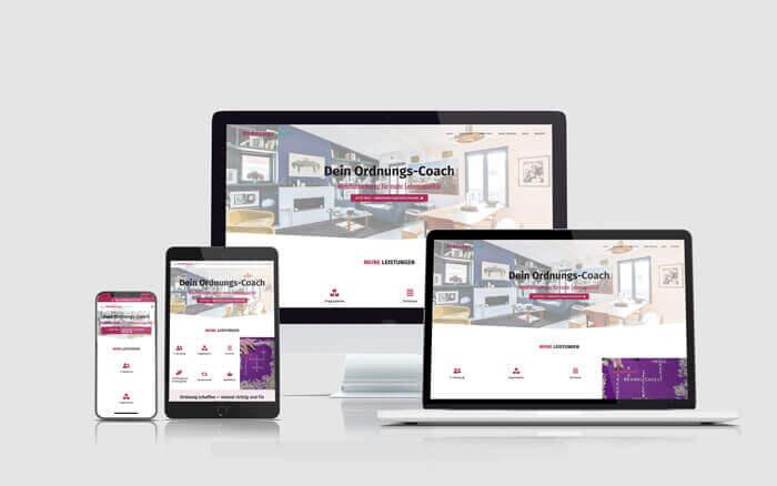 Webseite Ordnungscoach